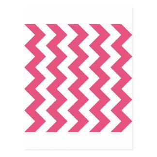 Zigzag I - Rosa blanco y oscuro Tarjeta Postal