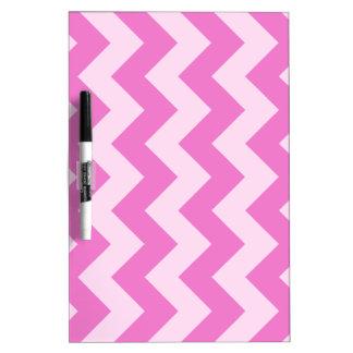 Zigzag I - Rosa rosa claro y oscuro Tableros Blancos
