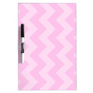 Zigzag I - Rosa y rosa claro Tablero Blanco
