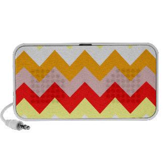 Zigzag I - Rosado, rojo, amarillo, blanco, naranja PC Altavoces
