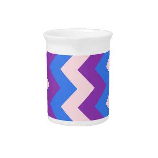 Zigzag I - Rosado, violeta, azul Jarras De Beber