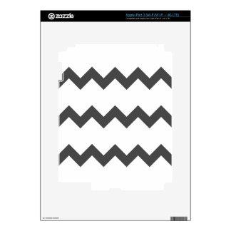 Zigzag I Single - Gray on White iPad 3 Skin