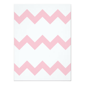 Zigzag I Single - Pink on White 6.5x8.75 Paper Invitation Card