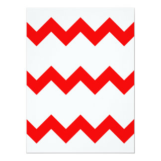 Zigzag I Single - Red on White 6.5x8.75 Paper Invitation Card