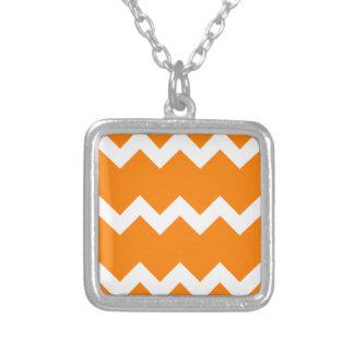 Zigzag I Single - White on Orange Jewelry