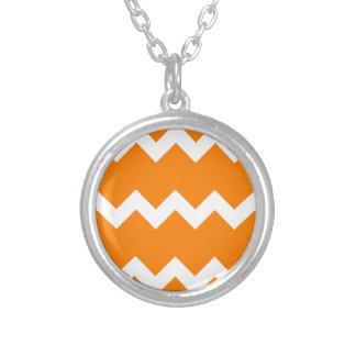 Zigzag I Single - White on Orange Necklaces