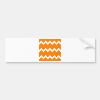 Zigzag I solo - blanco en el naranja Pegatina Para Coche