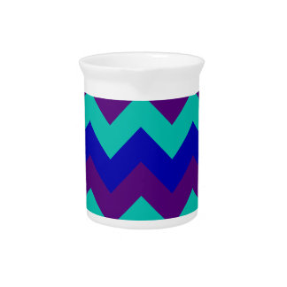 Zigzag I - Violeta azul, verde, oscura Jarron