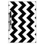 Zigzag I - White and Black Dry-Erase Board