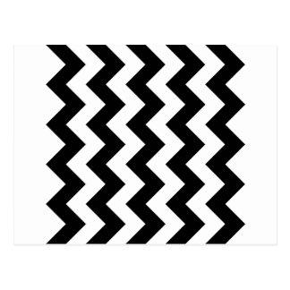 Zigzag I - White and Black Postcard