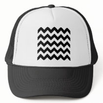 Zigzag I - White and Black Trucker Hat