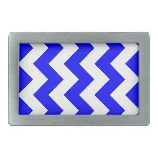 Zigzag I - White and Blue Belt Buckles