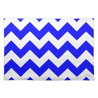 Zigzag I - White and Blue Place Mat