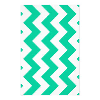 Zigzag I - White and Caribbean Green Stationery