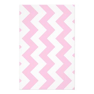 Zigzag I - White and Cotton Candy Custom Stationery