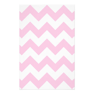 Zigzag I - White and Cotton Candy Stationery