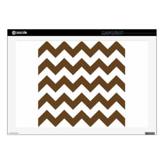 "Zigzag I - White and Dark Brown 17"" Laptop Skins"
