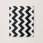 Zigzag I - White and Dark Gray Puzzle