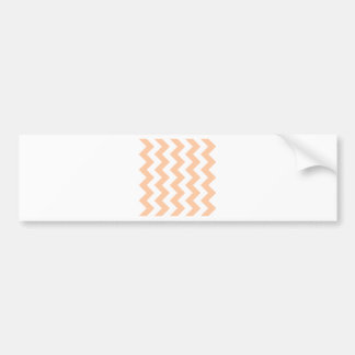 Zigzag I - White and Deep Peach Bumper Sticker