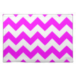 Zigzag I - White and Fuchsia Placemats