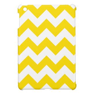 Zigzag I - White and Golden Yellow iPad Mini Cover