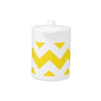 Zigzag I - White and Golden Yellow