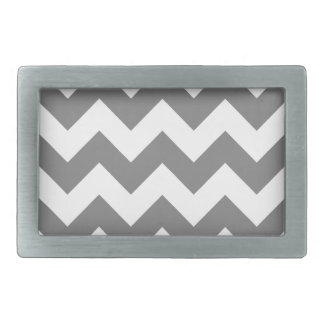 Zigzag I - White and Gray Belt Buckles