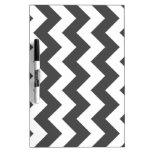 Zigzag I - White and Gray Dry Erase Board