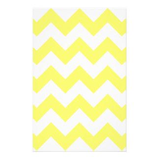 Zigzag I - White and Lemon Stationery