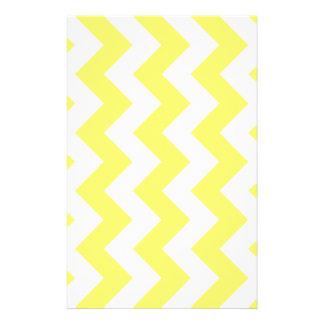 Zigzag I - White and Lemon Stationery Paper