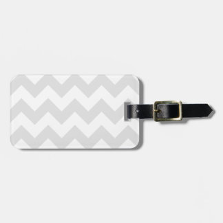 Zigzag I - White and Light Gray Bag Tags