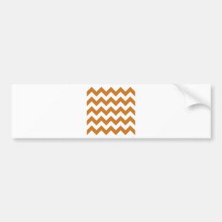 Zigzag I - White and Ochre Bumper Sticker
