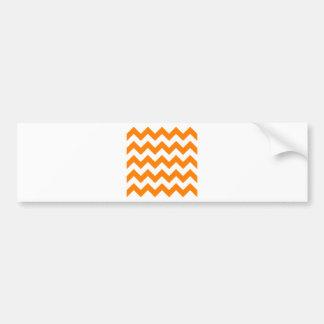 Zigzag I - White and Orange Bumper Stickers