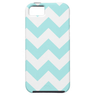 Zigzag I - White and Pale Blue iPhone 5 Cases