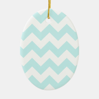 Zigzag I - White and Pale Blue Christmas Ornaments