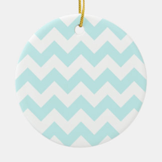 Zigzag I - White and Pale Blue Ornaments