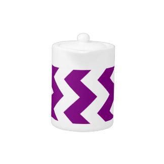 Zigzag I - White and Purple