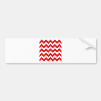 Zigzag I - White and Red Bumper Stickers