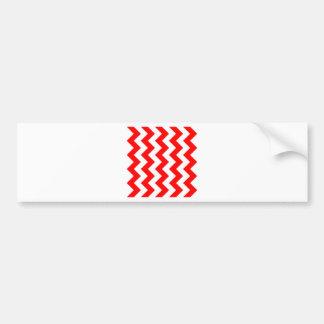 Zigzag I - White and Red Bumper Sticker