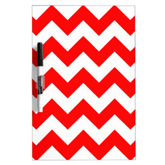 Zigzag I - White and Red Dry Erase Board