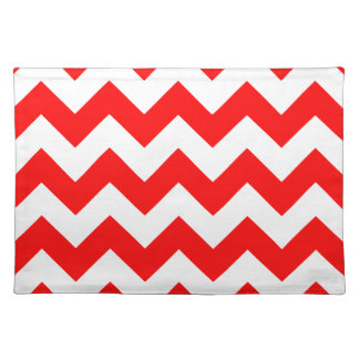 Zigzag I - White and Red Placemats