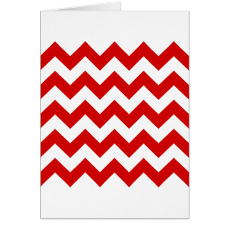 Zigzag I - White and Rosso Corsa Greeting Card