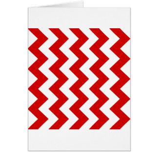 Zigzag I - White and Rosso Corsa Card