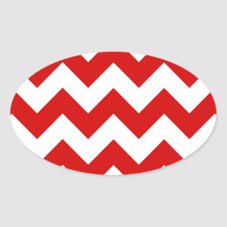 Zigzag I - White and Rosso Corsa Oval Stickers