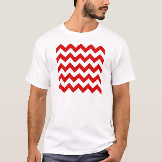 Zigzag I - White and Rosso Corsa T-Shirt