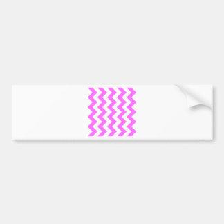 Zigzag I - White and Ultra Pink Bumper Sticker