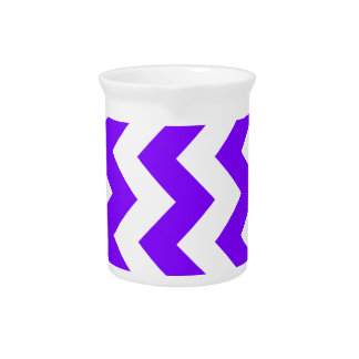 Zigzag I - White and Violet Pitcher