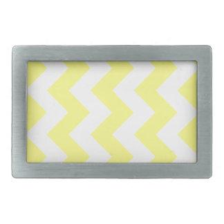 Zigzag I - White and Yellow Belt Buckle