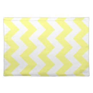 Zigzag I - White and Yellow Place Mat