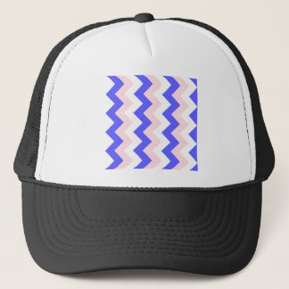 Zigzag I - White, Pink and Blue Trucker Hat